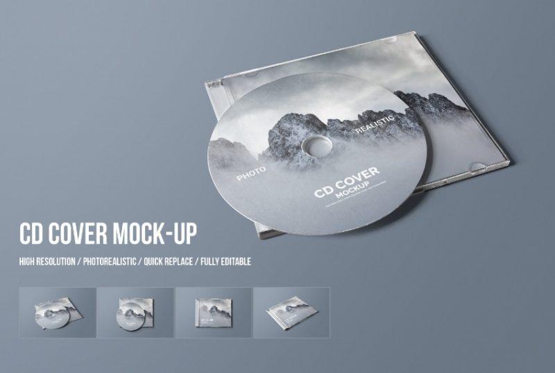 CD Case Mockup PSD