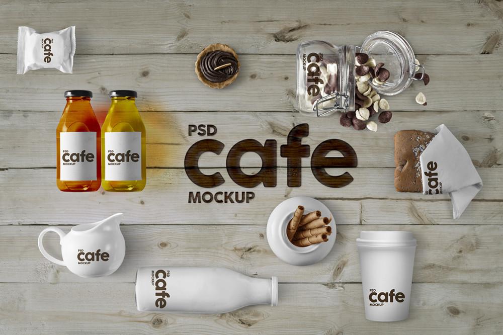 Cafe Packaging Mockup PSD