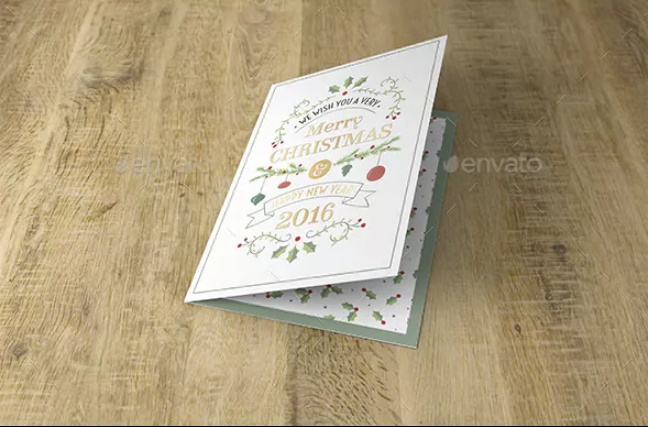 Christamas Greeting Card Mockup