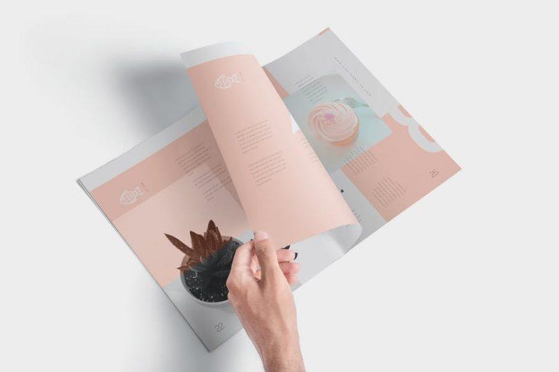 Clean Magazine Mockup PSD