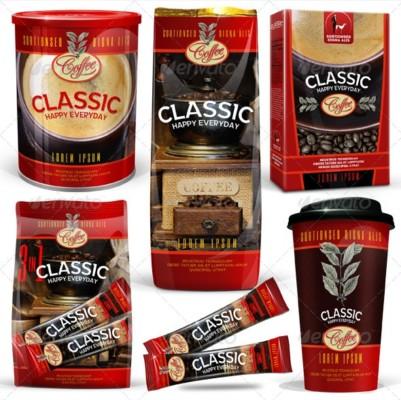 Coffee Packaging PSD Mockup