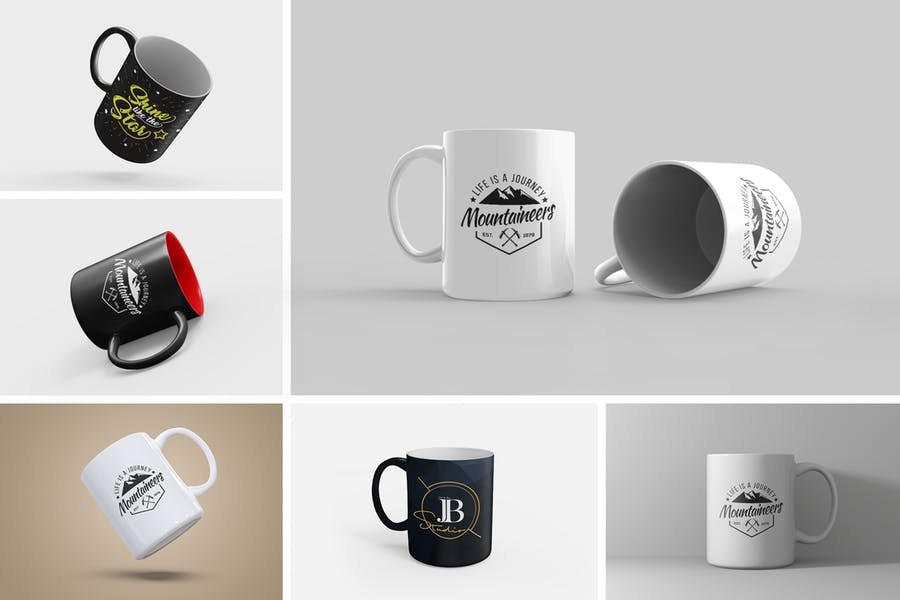 Customizable Mug Presentation Mockup