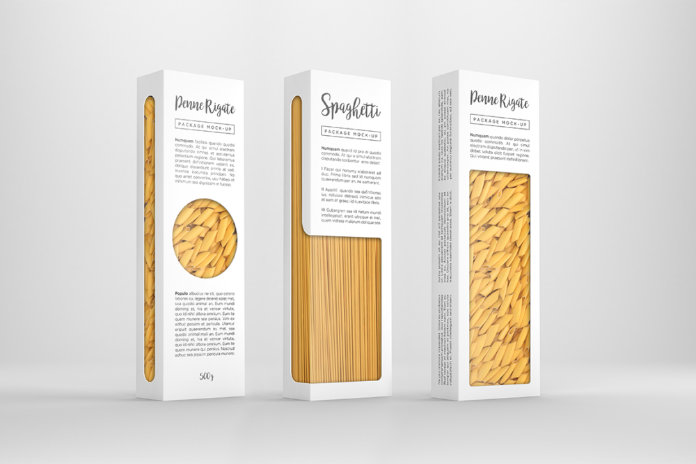 Customizable Pasta Package Mockup