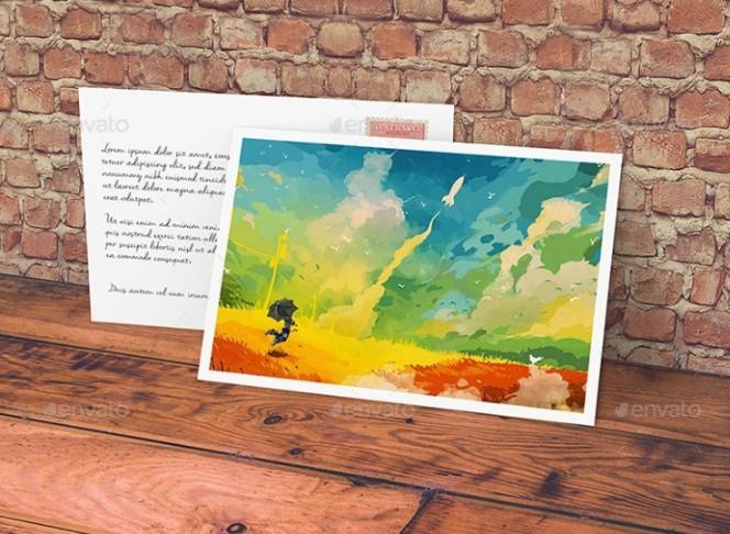 Customizable Postcard Mockup PSD