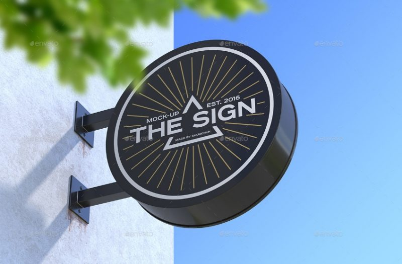Customizable Sign Mockup PSD