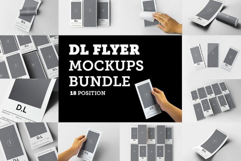 DL Flyer Mockup Bundle
