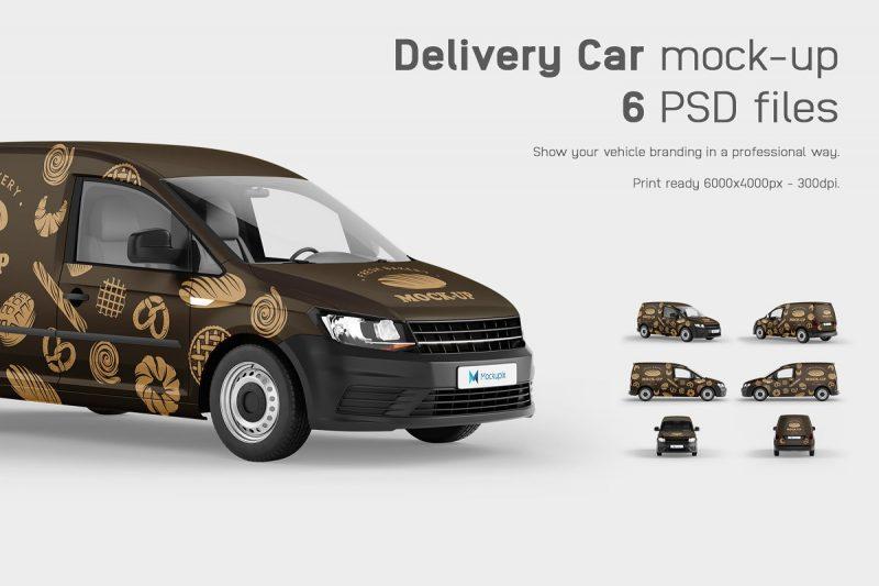 Delivery Van Mockup PSD