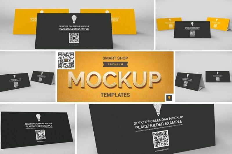 Desktop Calendar Mockup PSD