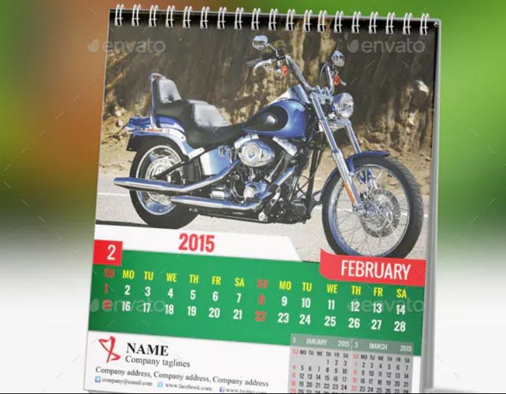 Easy Editable Calendar Mockup PSD