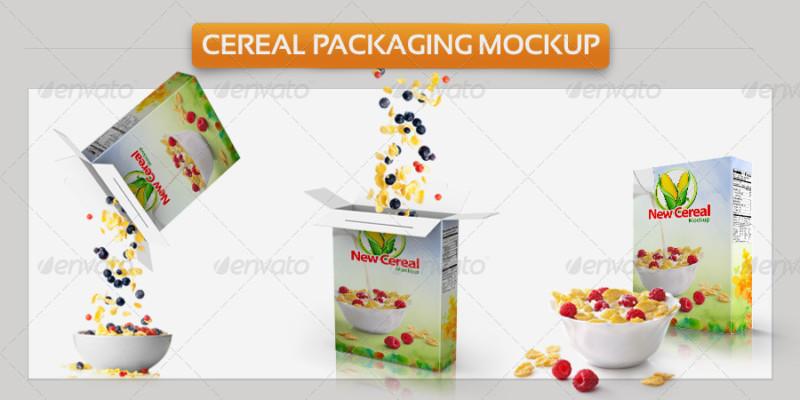 Editable Cereal Packaging Mockup