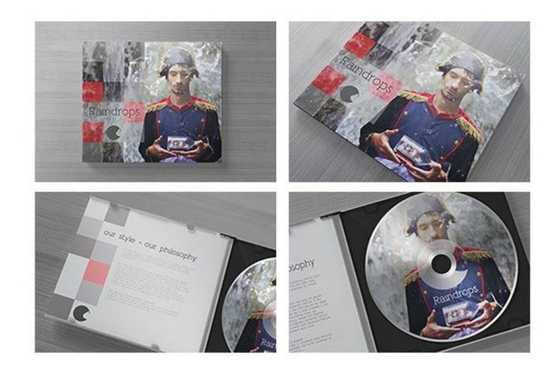 Editable Disk Mockup PSD