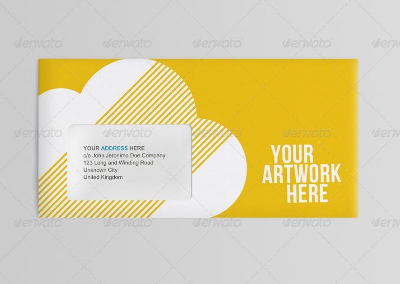 Editable Envelope Mockup PSD