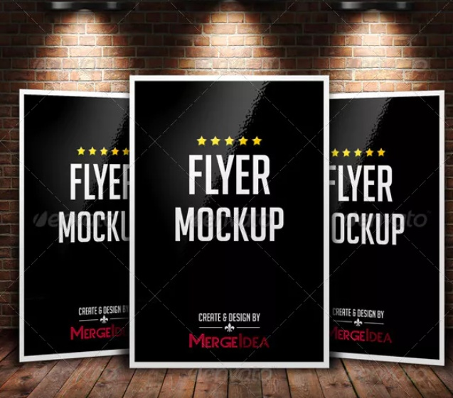 Editable Flyer PSD Mockup