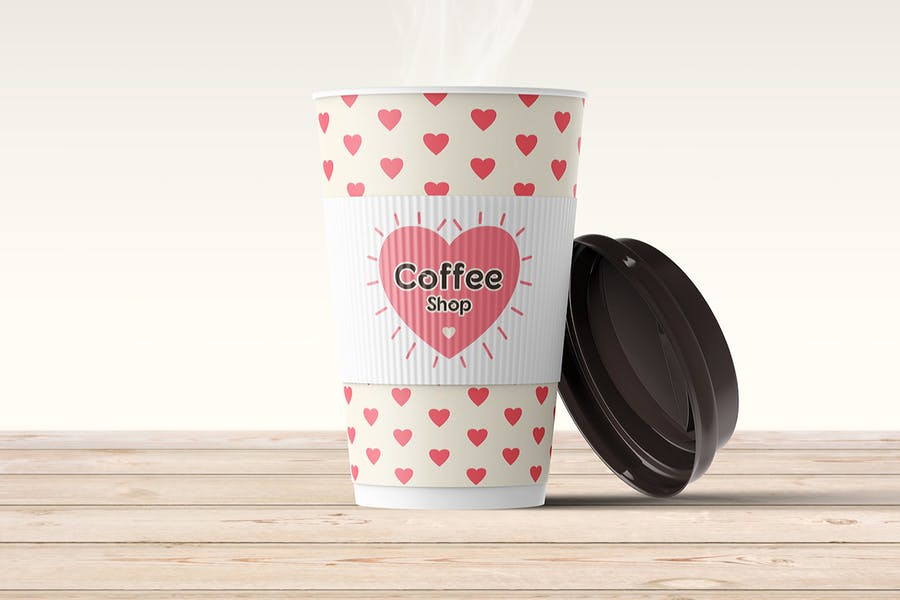 Editable Paper Coffee Cup Mockup