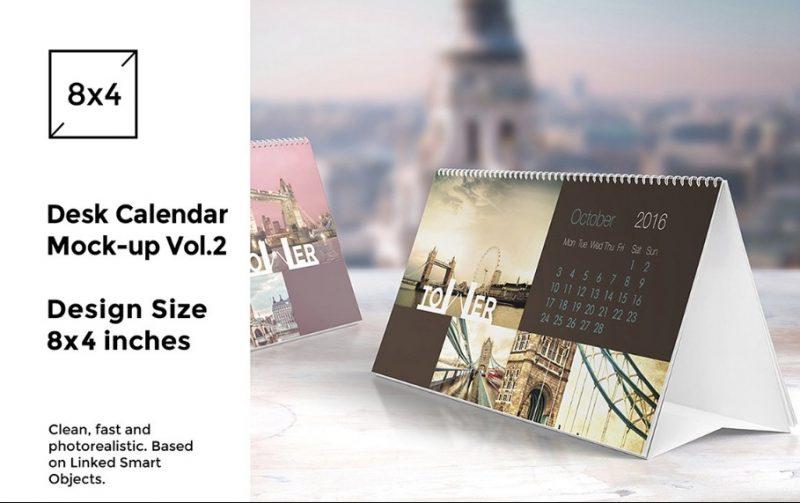 Elegant Calendar Mockup PSD