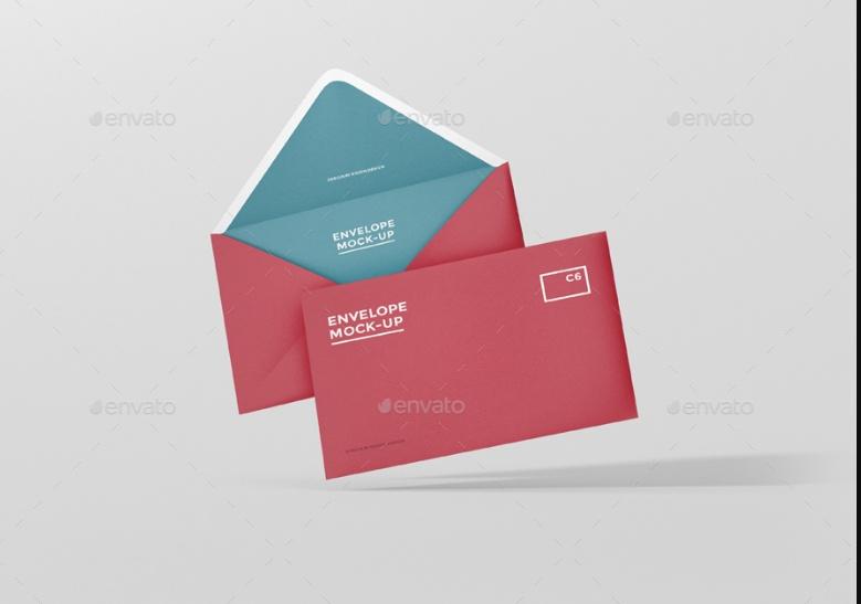 Elegant Envelope Mockup PSD