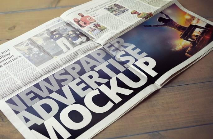 Elegant Newspaper Mockup PSD