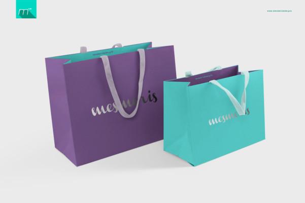 Elegant Paper Bags Moackup