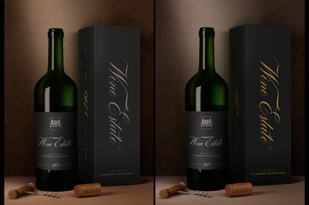 Elegant Wine Packaging Mockup