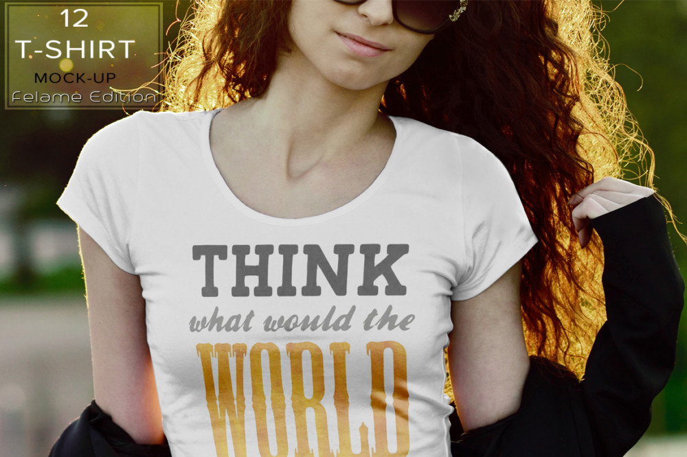 Female T Shirt Mockup Design