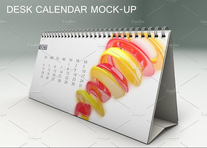 Fully Editable Calendar Mockup