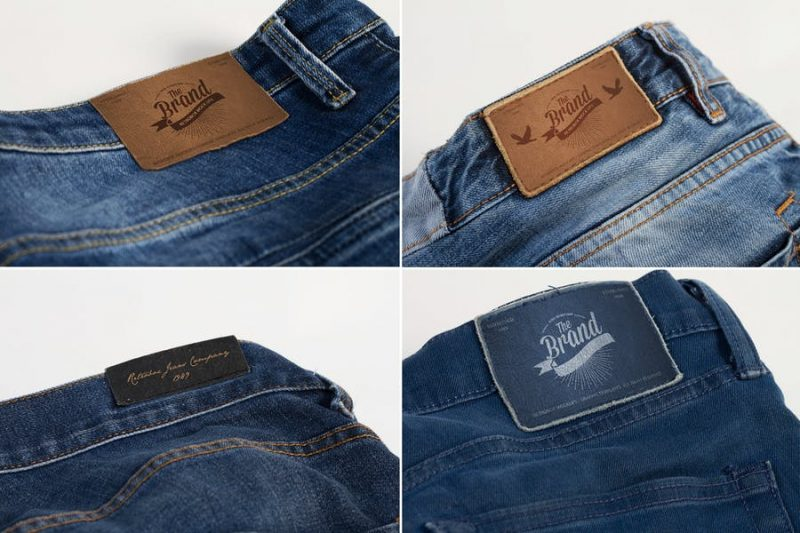 Fully Editable Jeans Label Mockup
