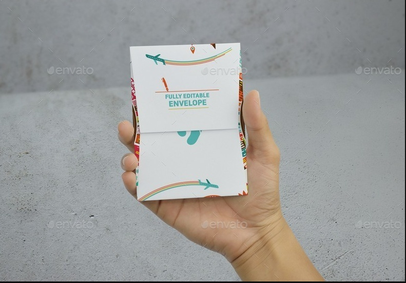 Greeting Cards With Envelope Mockup
