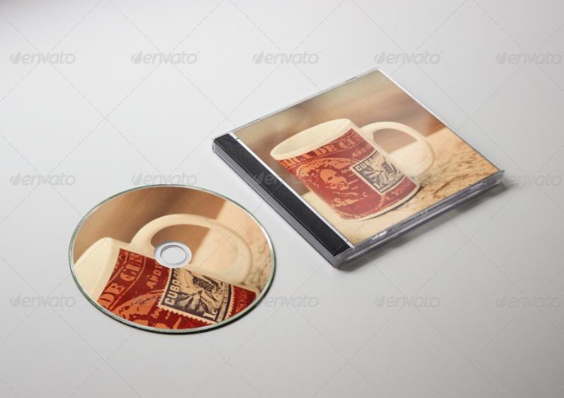 High Resolution CD Mockup PSD