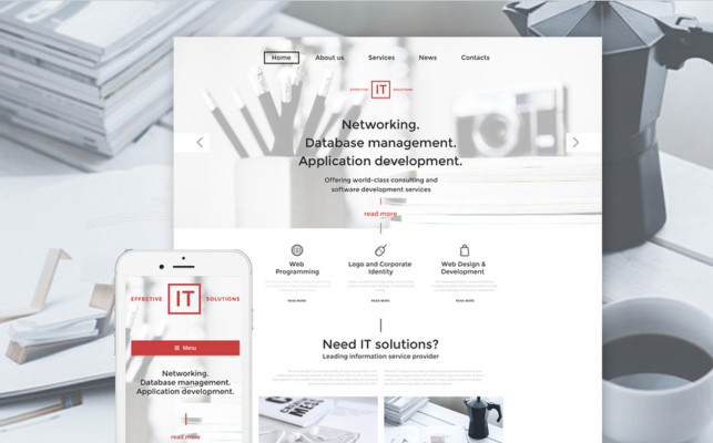 IT Portfolio WordPress Theme