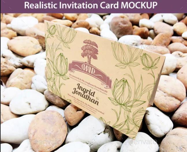 Invitation Card Mockup PSD