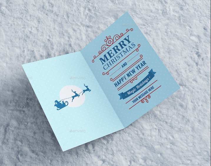 Invitation and Greeting Card Mockup