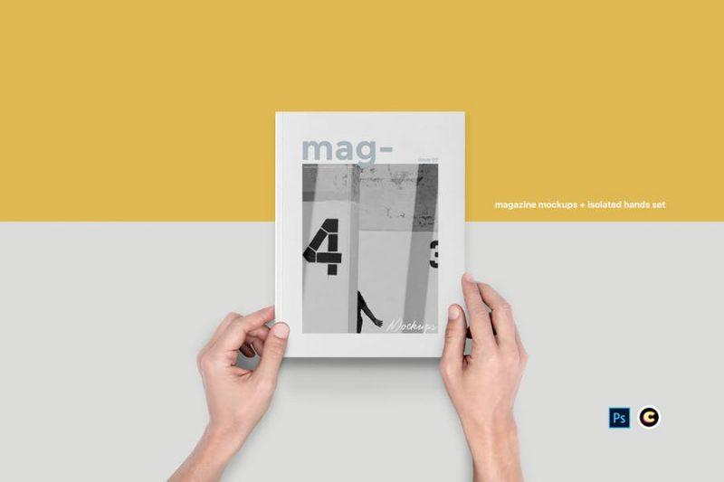 Isolated Magazine Mockup PSD