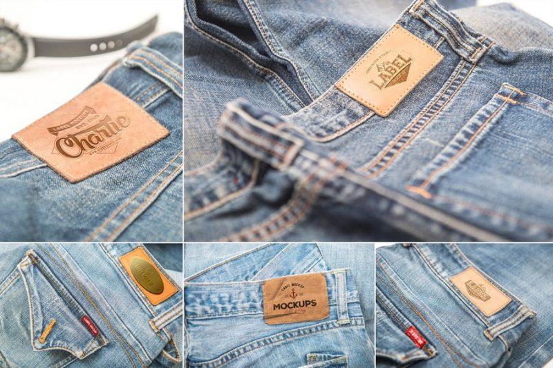 Jeans Label Mockup PSD
