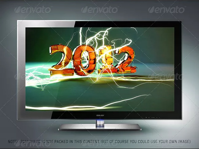 LCD Screen Mockup PSD