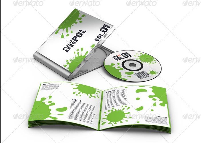 Layered CD Mockup PSD