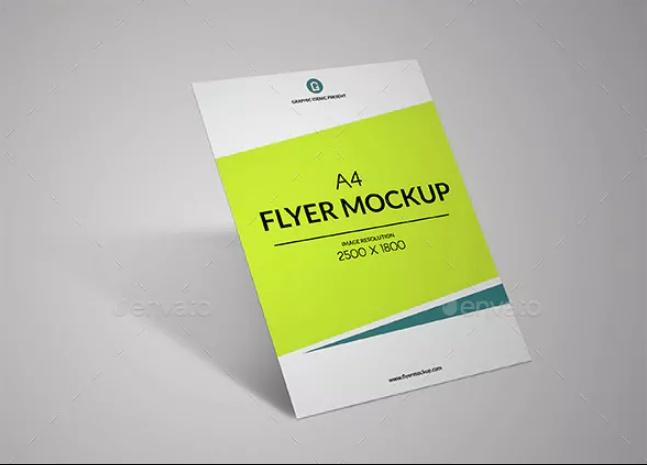 Layered Flyer Mockup PSD