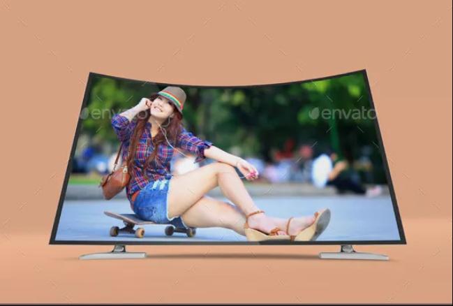 Layered HD TV Mockup