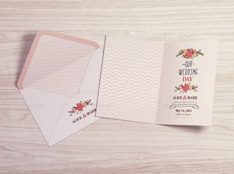 Layered Invitation Card Mockup