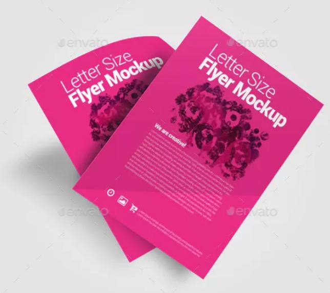 Letter Size Flyer Mockup Design