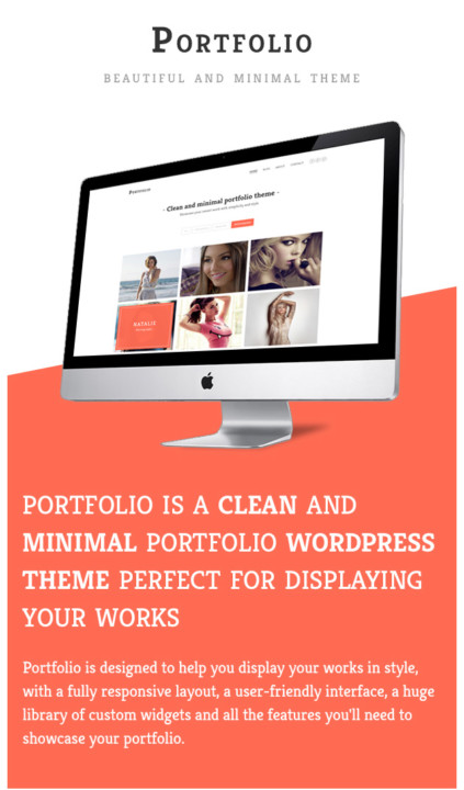 Minimal Portfolio WordPress Theme