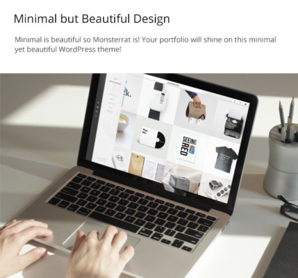 Minimal WordPress Portfolio theme for Designers