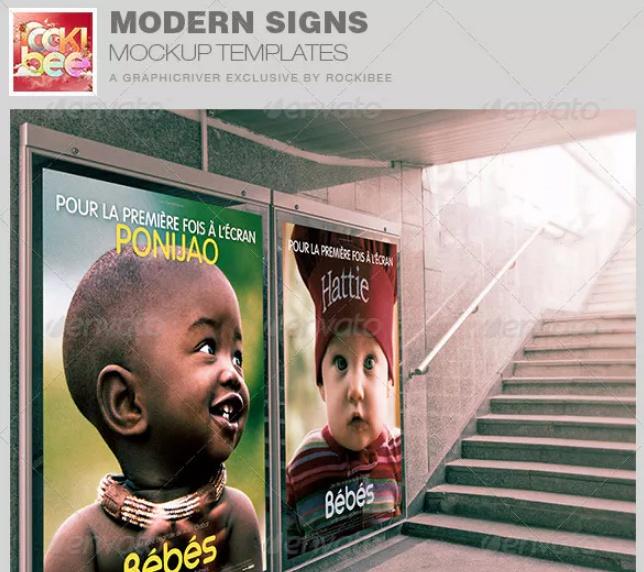 Modern Sign Mockup Design