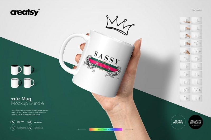 Mug Design Presentation Mockup