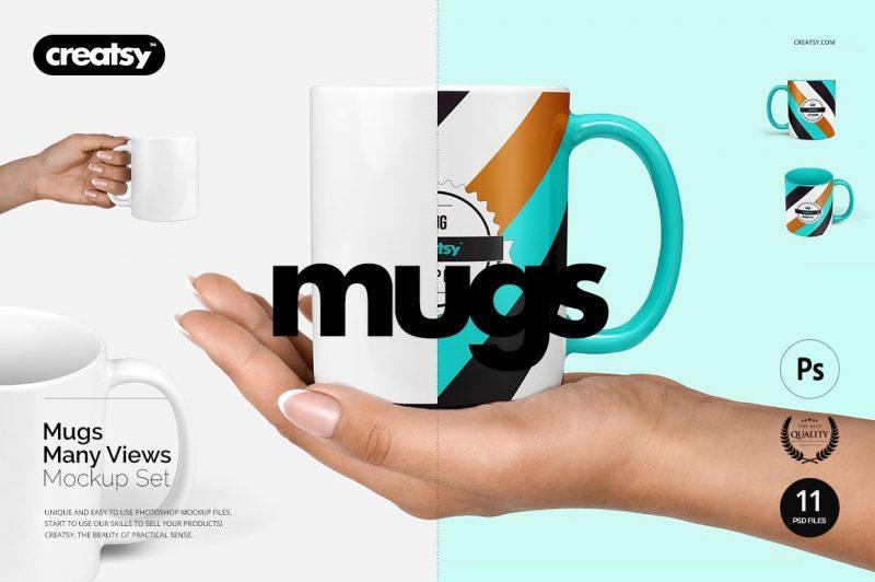 Multi View Mug Mockup