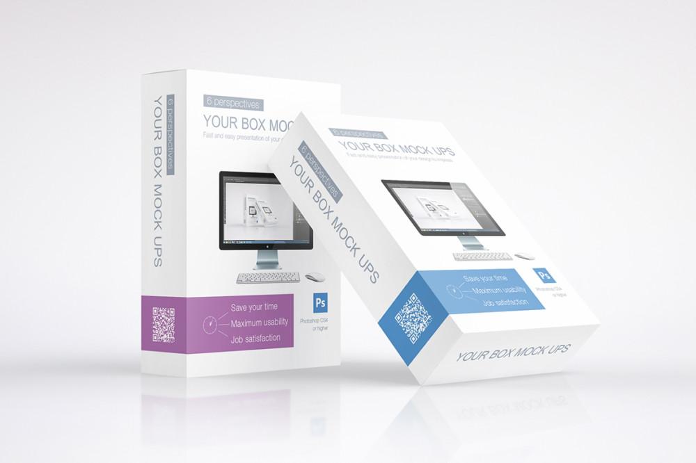 Multipurpose Product Box Packaging Mockup