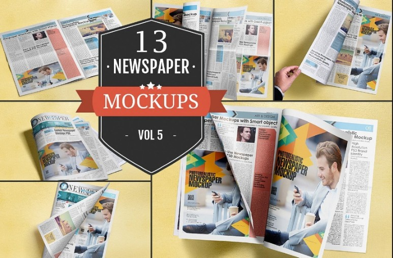 Newspaper Advertising Mockup PSD