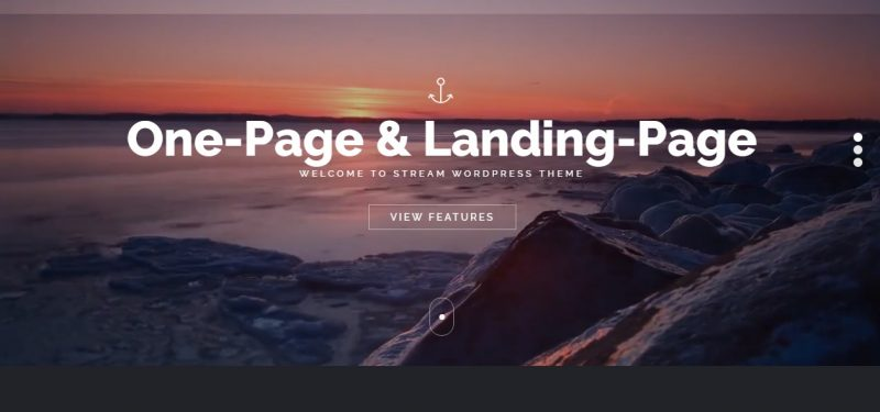 One Page Business WordPress Theme