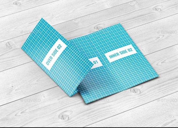 PSD Greeting Card Mockup Design