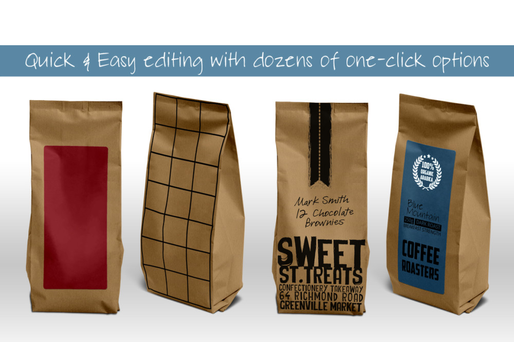paper bag packaging mockup   graphic cloud