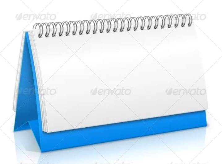 Paper Calendar Mockup PSD